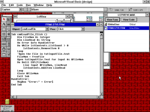 Visual Basic 1 showing the Code of a Command Button