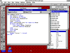 Visual Basic 2.0 Editing a Command Button's Click Procedure
