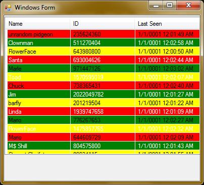 BASeCamp Programming Blog » Blog Archive Zebra-Striping your Windows