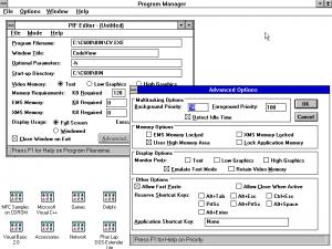Windows 3.1 PIF Editor