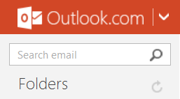 The Outlook.com Search Cue Banner