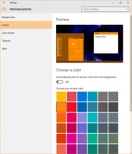 Windows 10 Threshold 2 now provides the capability to customize titlebar colours.
