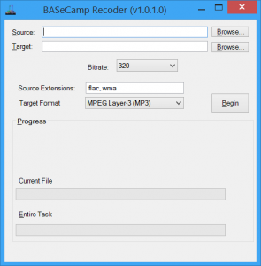Recoder running With High-DPI support on a High-DPI display.