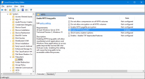 NTFS Long Paths gpedit setting