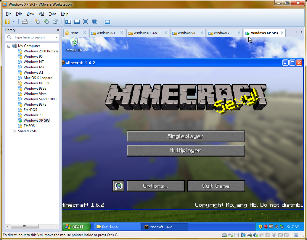 Minecraft on Virtualbox - Hardware & Software Support